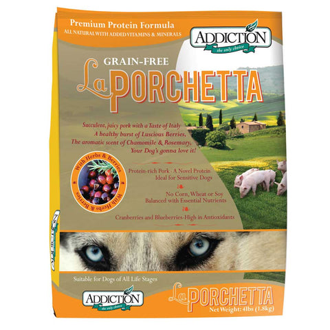 Addiction La Porchetta Grain Free Dry Dog Food - Kohepets