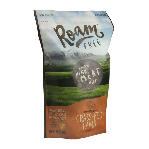 Roam Free Grass-Fed Lamb Grain Free Air Dried Dog Food (Hemp Seed Oil) 1kg