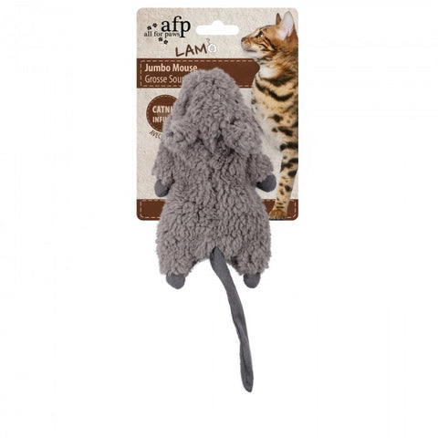 All For Paws Lamb Jumbo Mouse Cat Toy - Kohepets