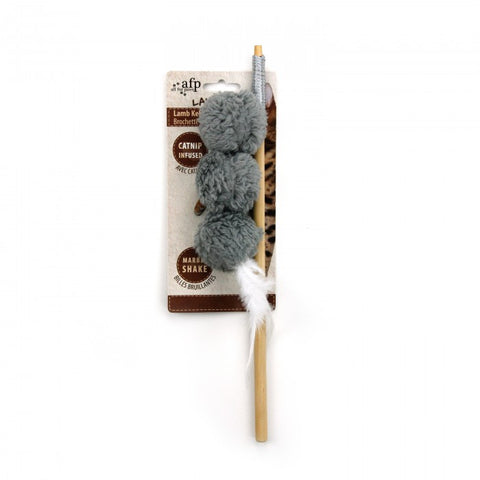 All For Paws Lamb Kebab Wand Cat Toy - Kohepets