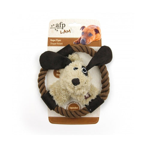 All For Paws Lamb Rope Flyers Dog Toy - Kohepets