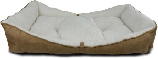All For Paws Lambswool Bolster Bed - Medium - Kohepets
