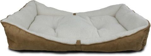 All For Paws Lambswool Bolster Bed - Large