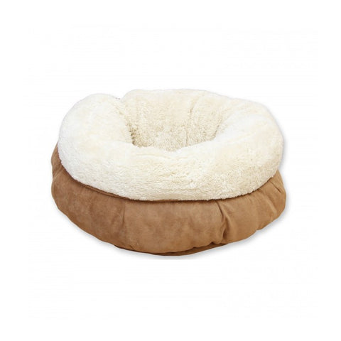 All For Paws Large Donut Bed - Tan - Kohepets