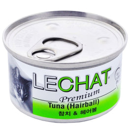 15% OFF: LeChat Premium Tuna (Hairball) Canned Cat Food 80g