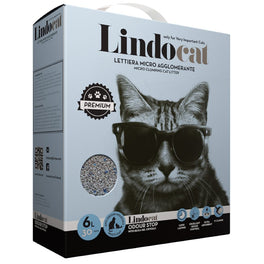 Lindocat Odour Stop Clumping Clay Cat Litter 6L