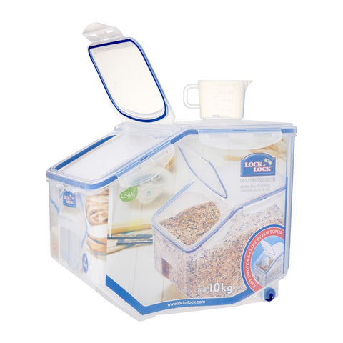 Lock & Lock Airtight Dry Food Storage Container With Flip Cover 12L - Kohepets