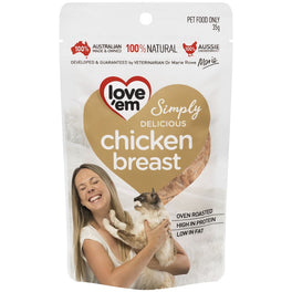 Love'em Chicken Breast Oven Roasted Cat Treats 35g