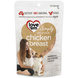 Love'em Chicken Breast Oven Roasted Dog Treats 55g