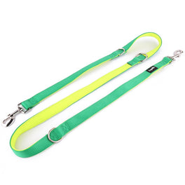 Loyal.D Multi-Purpose.D Dog Lead - Green & Fluoro Yellow