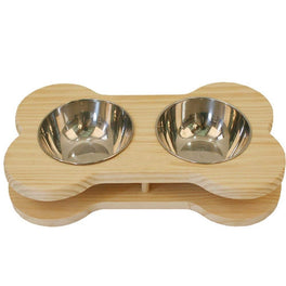 Luxypet Bone Double Dog Bowl