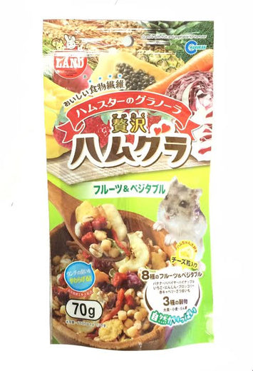 Marukan Granola With Fruits And Vegetable For Hamster 70g - Kohepets