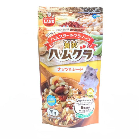 Marukan Granola With Nuts And Seed For Hamster 70g - Kohepets