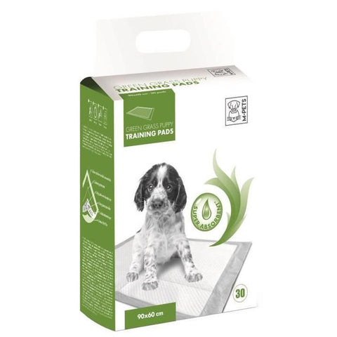 10% OFF: M-Pets Green Grass Puppy Training Pee Pads 30ct - Kohepets