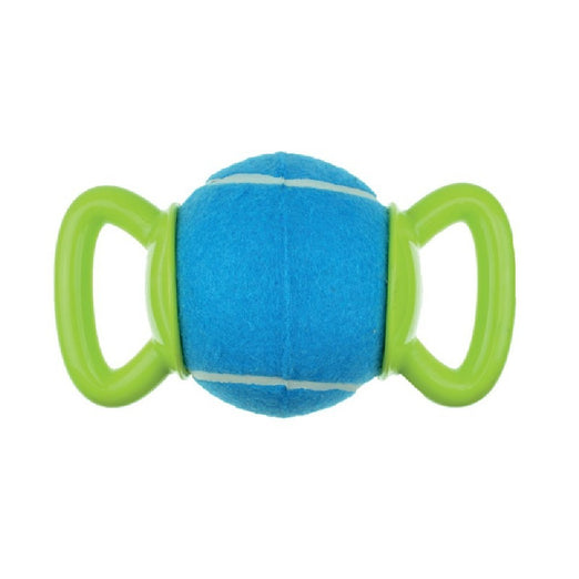 10% OFF: M-Pets Play Handy Ball Dog Toy (Blue & Green) - Kohepets