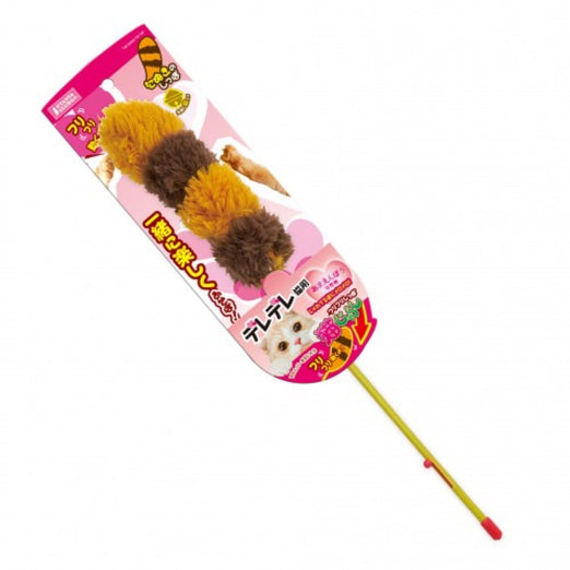 Marukan Brown Tail Teaser with Bell Wand Cat Toy - Kohepets