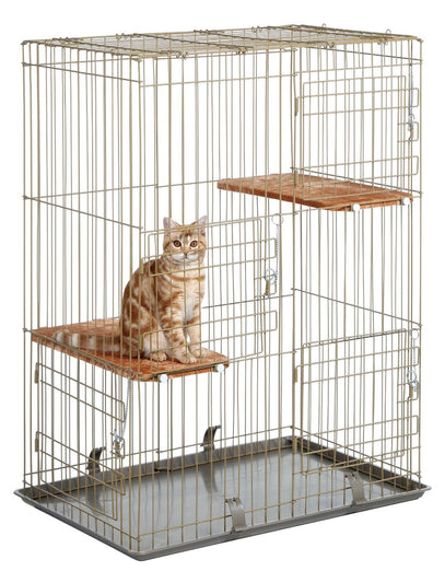 Marukan Cat Friend Room 3 Level Cat Cage - Kohepets