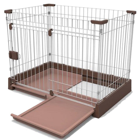 Marukan Easy Cleaning Brown Dog Cage - Kohepets