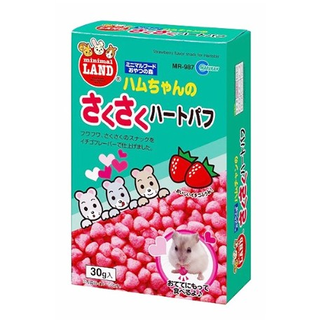 Marukan Puff Heart Shape Hamster Treat 30g - Kohepets