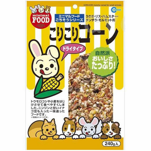 Marukan Kori Kori Munchy Cereal for Small Animals 240g - Kohepets