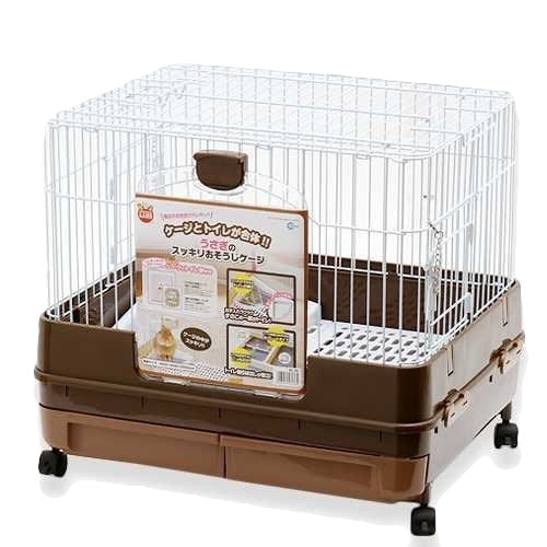 Marukan Easy Clean Rabbit Cage (Brown)