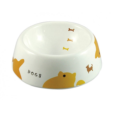Marukan Decorative Porcelain Dog Bowl - Big Print