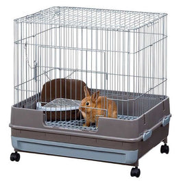 Marukan Rabbit Cage With Pull Out Tray In Grey