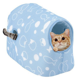 Marukan Summer Loaf Bed with Hood for Cats