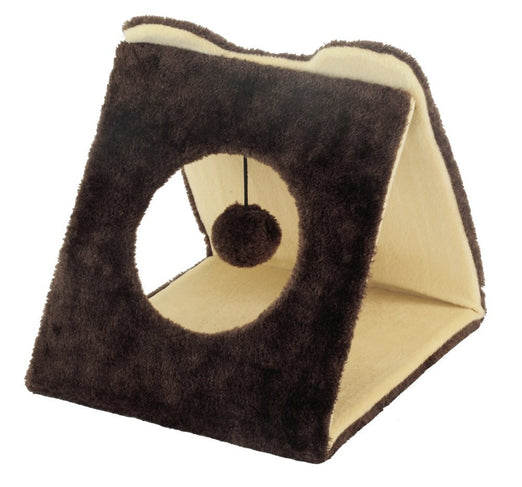 Marukan Triangle Tunnel Cat Scratcher - Kohepets