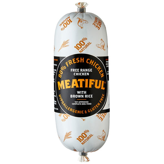 Meatiful Free Range Chicken With Brown Rice Wet Dog Food Sausage 320g