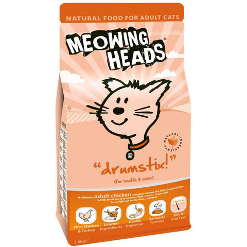 Meowing Heads Drumstix Dry Cat Food 1.5kg