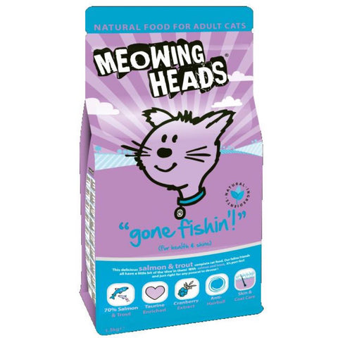 Meowing Heads Gone Fishin' Dry Cat Food 1.5kg