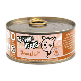 Meowing Heads Drumstix Turkey Grain Free Canned Cat Food 100g