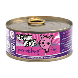 10% OFF: Meowing Heads Purr-Nickety Salmon & Chicken Grain Free Canned Cat Food 100g (Exp Jun 19)