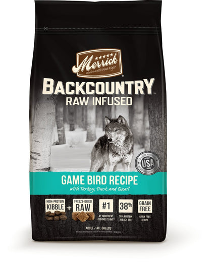 Merrick Backcountry Raw Infused Game Bird Recipe Grain Free Dry Dog Food - Kohepets