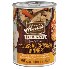 Merrick Chunky Grain Free Colossal Chicken Dinner Canned Dog Food 360g