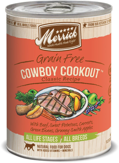 Merrick Classic Grain-Free Cowboy Cookout Canned Dog Food 374g
