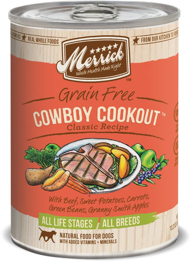 Merrick Classic Grain-Free Cowboy Cookout Canned Dog Food 374g - Kohepets