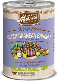 Merrick Classic Grain-Free Mediterranean Banquet Canned Dog Food 374g