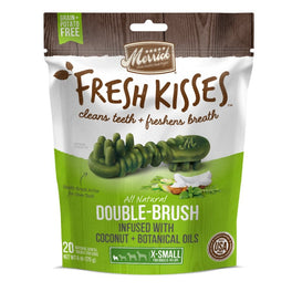 Merrick Fresh Kisses Double-Brush Coconut Oil Extra Small Dog Treats 6oz