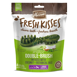 Merrick Fresh Kisses Double-Brush Coconut Oil Large Dog Treats 6.5oz