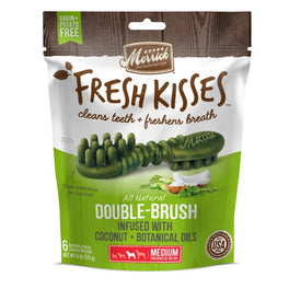 Merrick Fresh Kisses Double-Brush Coconut Oil Medium Dog Treats 6oz