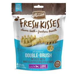 Merrick Fresh Kisses Double-Brush Mint-Flavoured Large Dog Treats 6.5oz