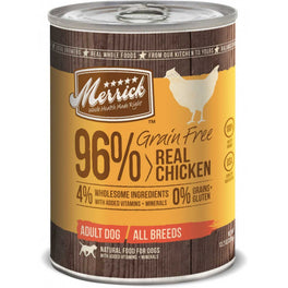 Merrick Grain Free 96% Real Chicken Canned Dog Food 374g