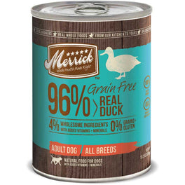Merrick Grain Free 96% Real Duck Canned Dog Food 374g