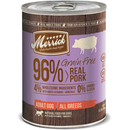 Merrick Grain Free 96% Real Pork Canned Dog Food 374g