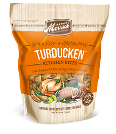 Merrick Grain-Free Turducken Kitchen Bites Dog Treats 9oz