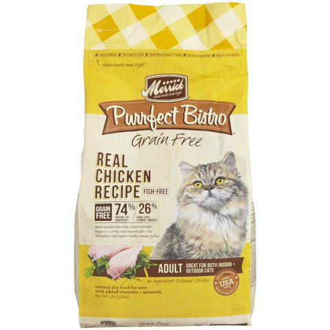 Merrick Purrfect Bistro Grain Free Healthy Adult Chicken Dry Cat Food - Kohepets