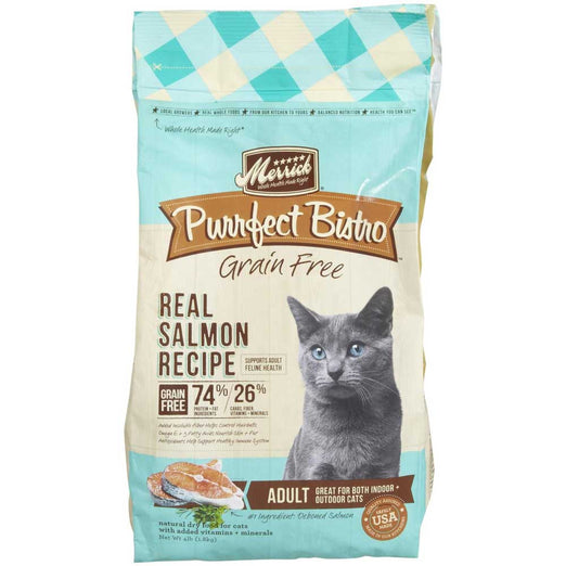 Merrick Purrfect Bistro Grain Free Healthy Adult Salmon Dry Cat Food - Kohepets