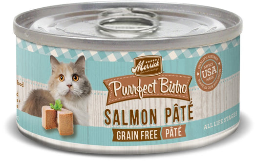 Merrick Purrfect Bistro Grain-Free Salmon Pate Canned Cat Food 156g - Kohepets